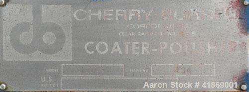 "Used- Cherry Burrell Coating Pan/Polisher, model 16VS, 304 stainless steel. 42"" diameter x 35"" deep. 26"" diameter opening wi..."