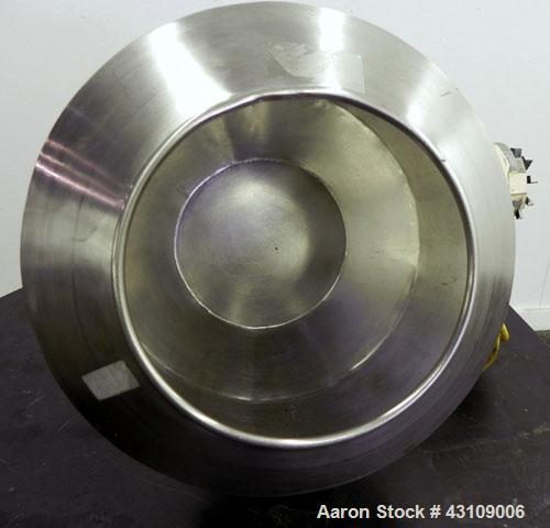 Used- Colton Angular Coating Pan, 304 Stainless Steel.  16'' Diameter x 12-1/2'' deep pan with a 10-1/2'' diameter front ope...