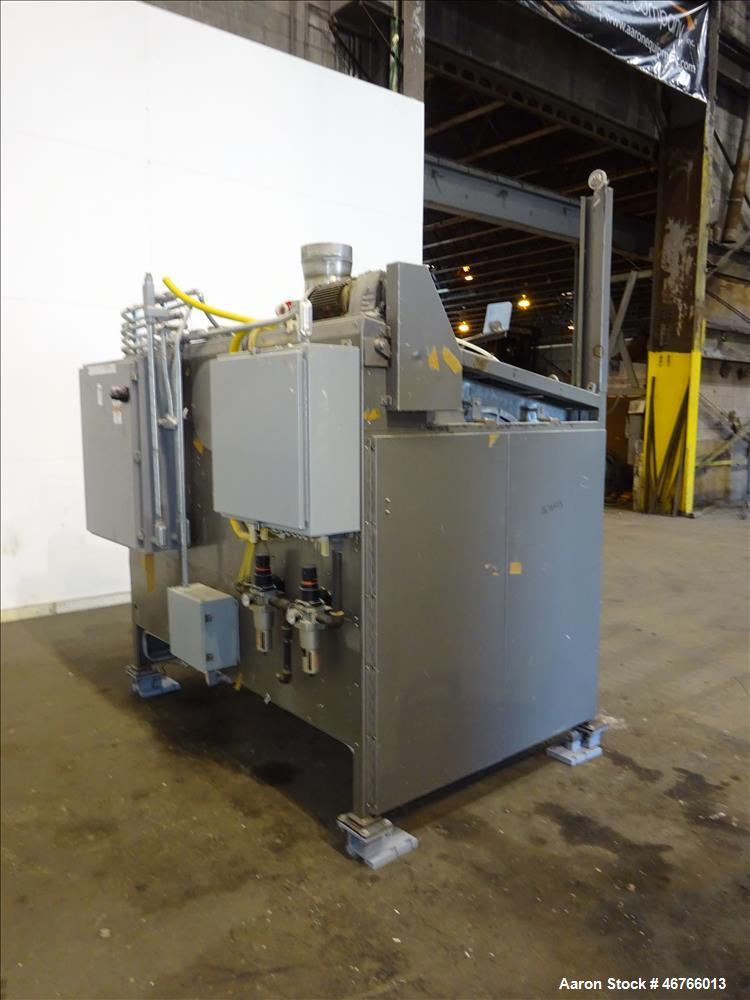 """Used- DTG Finn Belt Coater Model MAXI, 304 Stainless Steel, Approximate 72"""" wide Belt. Spray bar with (10) nozzles. Capacity..."""