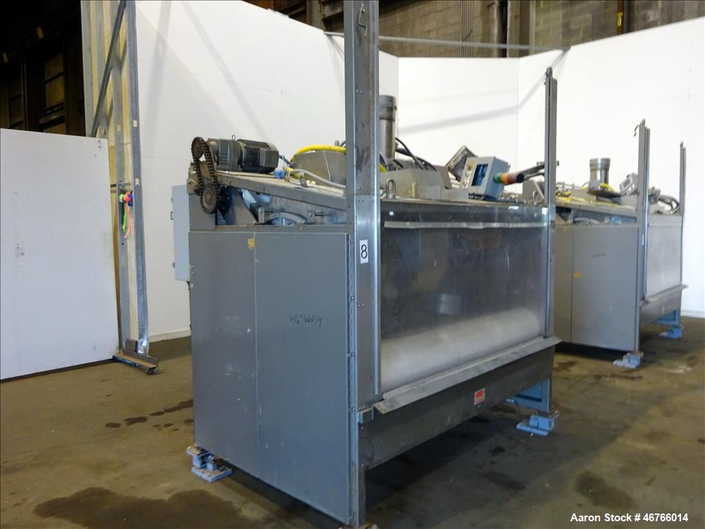 "Used- DTG Finn 10.89 cu ft Belt Coater, Model ""Enhanced"". Unit is rated for a 309+ liter capacity and a batch size of up to ..."