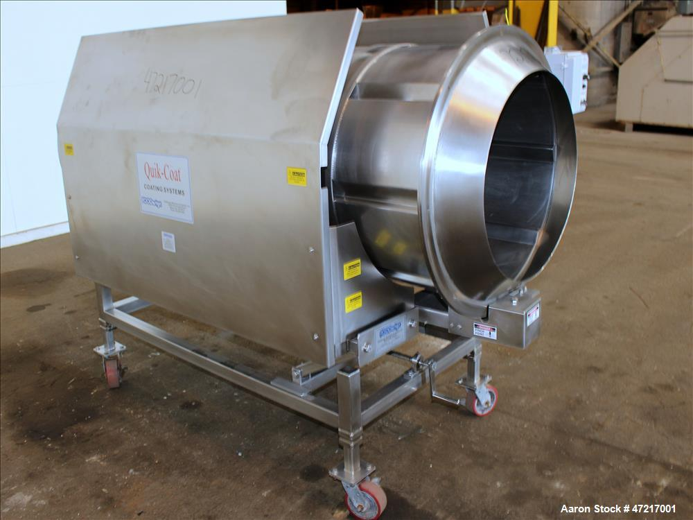 Used- FOODesign Machinery & Systems Quik-Coat Coating Systems Seasoning Drum, Mo