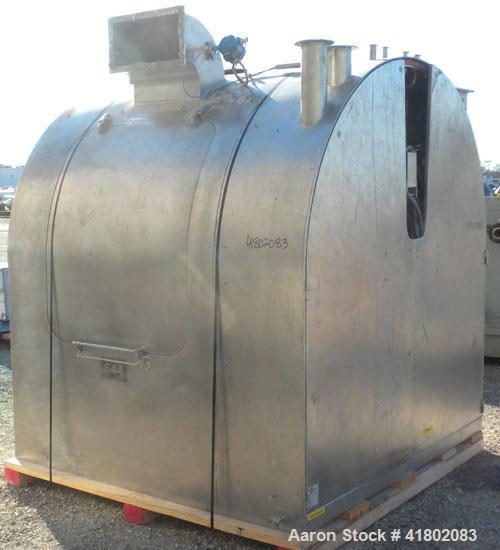 Used- Stainless Steel Glatt Drum Coater, Model GC-X-1500.