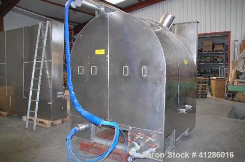 Used-Glatt Stainless Steel Coating Pan, Model GC1500,  420 Kg, 316 stainless steel, explosion proof, perforated bowl with 6 ...