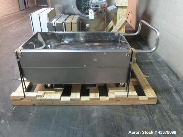 Used- Glatt Coating Pan, Model GCX1500. Stainless steel construciton, 1500 mm diameter perforated pan, spray guns with servo...