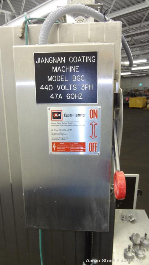Used- Stainless Steel Jiangnan Packing Machinery BG Series Tablet Coater, Model