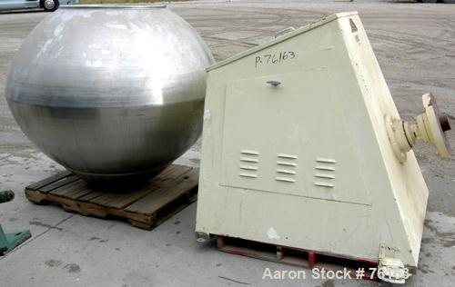 "Used- Lakso Coating Pan, Model 101-101, 316 Stainless Steel. 65"" diameter x 52"" deep. 30"" front opening, no cover. Driven by..."