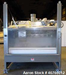 "Used- DTG Finn Belt Coater Model MAXI, 304 Stainless Steel, Approximate 72"" wide Belt. Spray bar with (10) nozzles. Capacity..."