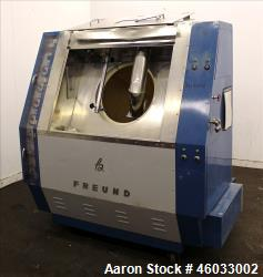 "Freund Industrial Co. P2 Automatic Coating Machine, Type FM3 100. Fiberglass pan 39"" diameter x 31""..."