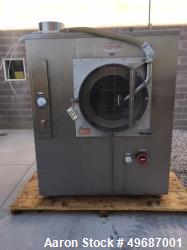 "Used- Thomas Engineering Accela-Cota 48"" Coating Pan, Model 48. Stainless steel exterior with painted steel sub frame: 48"" d..."