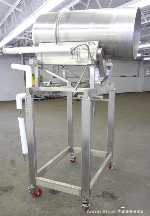 "Used- Spray Dynamics Soft Flight Coating Drum, Model 48X24, 304 Stainless Steel.  Approximately 24"" diameter x 51"" long drum..."