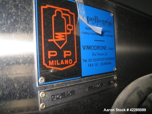 Used- Pellegrini Coating Pan, Model SPG-25, Serial# 5154.