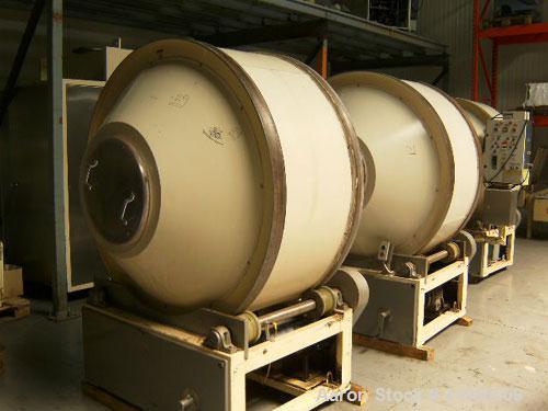 """Used-Pellegrini 57"""" Coating Pan. Total capacity 661.4 lbs (300 kg), drum dimensions inside 61.4"""" (1560 mm), outside 66"""" (170..."""