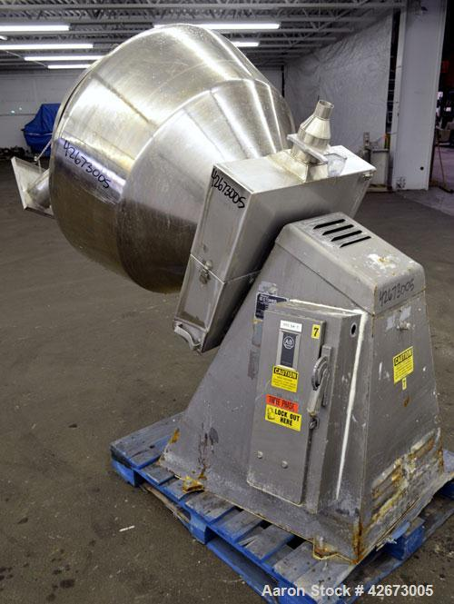 Used- Stainless Steel Stokes Multi-Purpose Coating Pan, Model 100VS