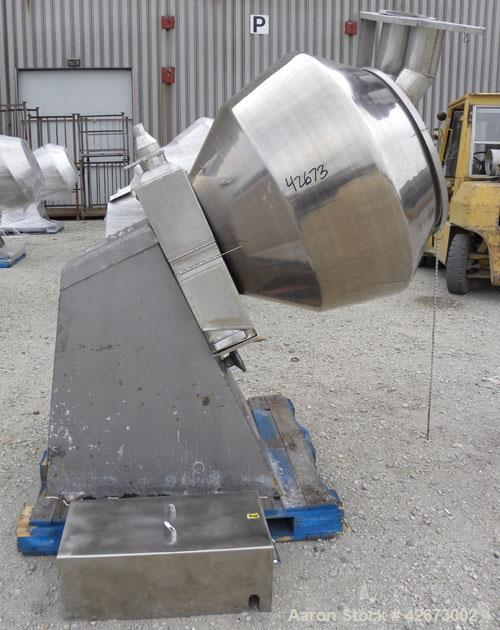 Used- Stokes Multi-Purpose Coating Pan, Model 900-1-8, 304 Stainless Steel. Hexagonal-shaped coating pan, approximate 42'' d...