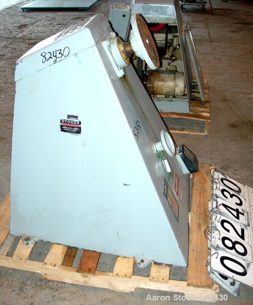 USED: Stokes coating pan base only, model 900-1-8. Includes a 1.5 hp, 3/60/208-220/440 volt, 1725 rpm motor with a reducer, ...