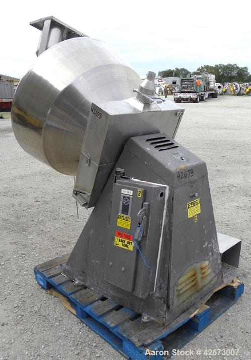Used- Stokes Multi-Purpose Coating Pan, Model 900-300-001, 304 Stainless Steel. Hexagonal-shaped coating pan, approximate 42...
