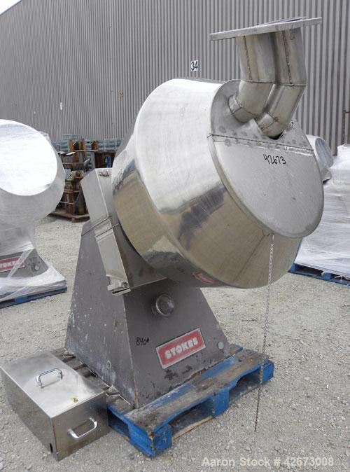 Used- Stainless Steel Stokes Multi-Purpose Coating Pan, Model 900-300-001