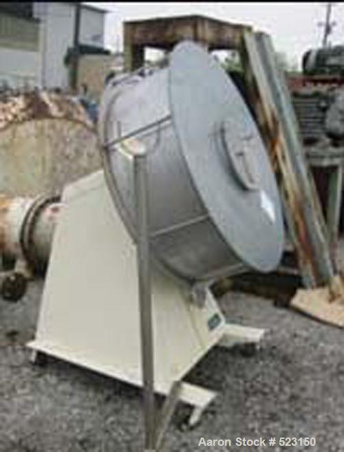"USED: Stokes 40"" Coating Pan, model 900-3001. Stainless steel construction, 40"" diameter x 14"" deep pan, 14"" diameter feed o..."