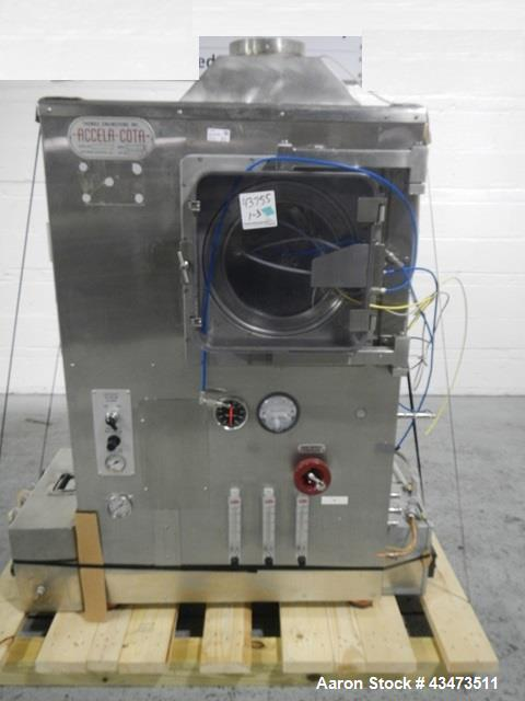 "Used- Thomas Engineering Accela Cota Coating Pan, 24"" Diameter, Model 24-111, Serial# 24-274."