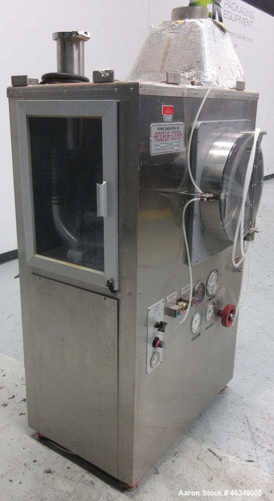 "Used- Thomas Engineering Coatin Pan, Model ""Accela-Cota"" 24-111, Stainless Steel"