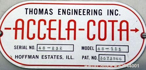Used- Stainless Steel Thomas Engineering Accela-Cota Coating Pan, Model 48-111