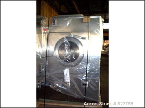 "USED: Thomas Engineering Accela-Cota coating pan, model 48. 48"" diameter perforated pan, stainless steel construction, with ..."