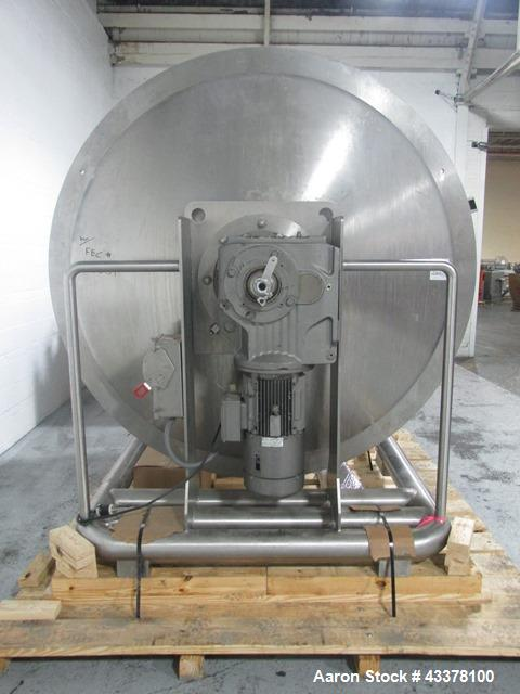"Used- Thomas Engineering Spectrum Coating Pan, Model A-C Spectrum 60/72. 60"" Diameter x 72"" deep perforated pan, internal ba..."