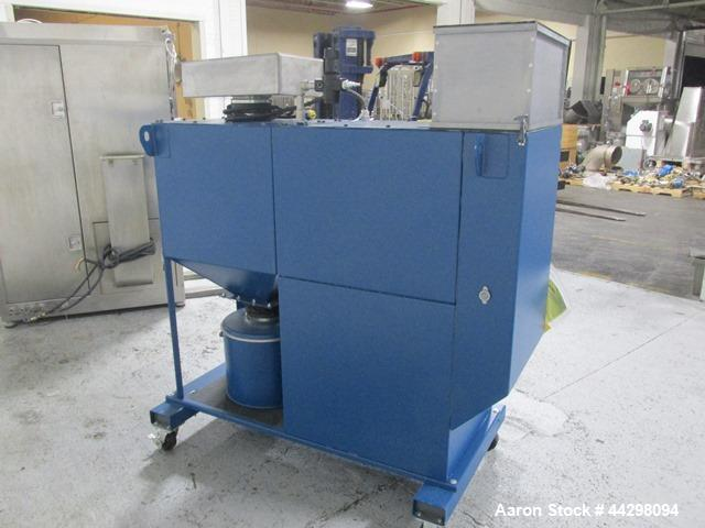 """Used- Thomas Engineering Compu-Lab Coating Pan, Model CL24. Stainless steel construction, 24"""" diameter perforated pan with p..."""