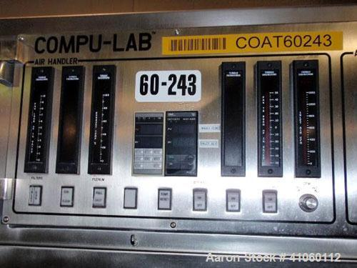 "Used- Thomas Engineering Lab Coating Pan, Model CL36, with 36"" and 24"" diameter perforated pans, all stainless steel constru..."