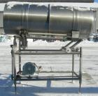 Used- Allen Machinery Rotating Coating Drum, 304 stainless steel, horizontal. 36
