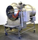 Used- Spray Dynamite Rotary Drum Tumbler/Liquid Applicator, 304 Stainless Steel. 30