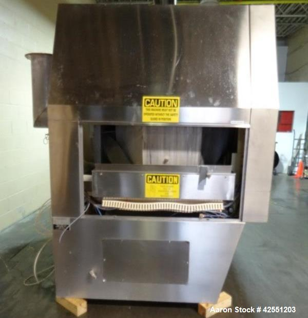 "Used-Vector Freund Hi Coater coating pan, model HC-150, 1500mm (59"") pan diameter, stainless steel construction, perforated ..."
