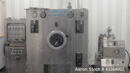 Used-Vector Freund Hi-Coater, Model HCT-60.Vector flow control pump, model FCP-2340SS; control panel; spray gun; 220 volts, ...