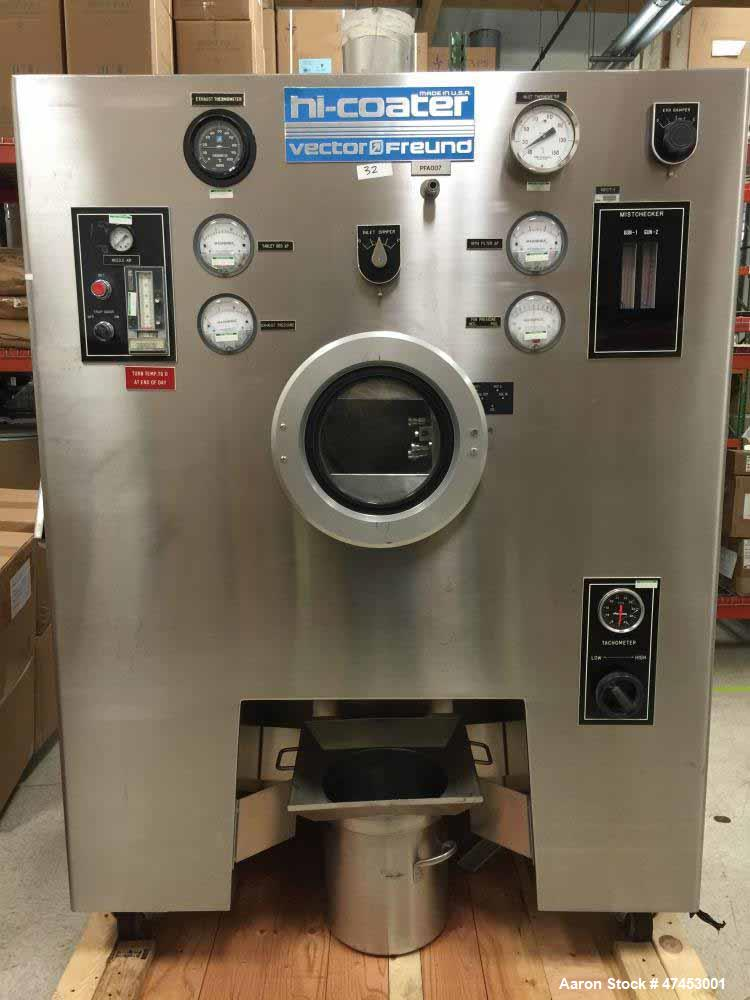 Used- Vector Freund Hi-Coater Coating Pan