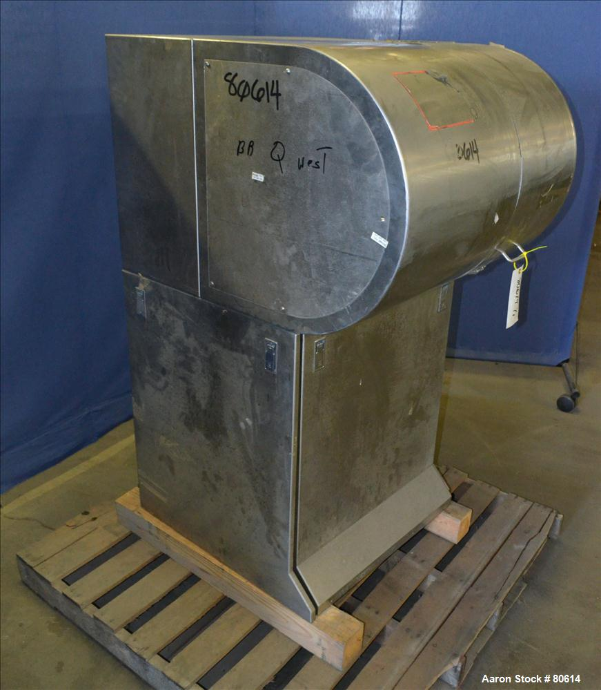 Used- Stainless Steel Vector/Freund Hi-Coater Coating Pan, Model VLDCS