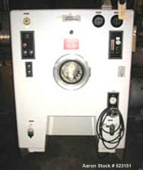 "USED: Vector Hi-Coater, model HCT60. 24"" diameter, self-contained air handling system, model PU-GPA flow control pump with t..."