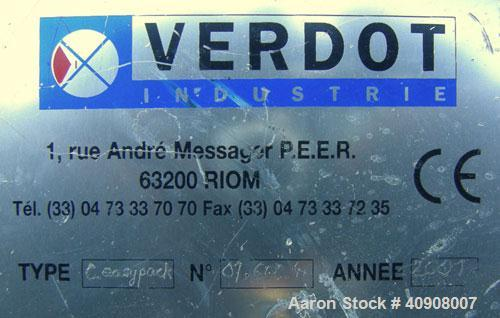 Used- Stainless Steel Verdot Industrie EasyPack Chromatography Column