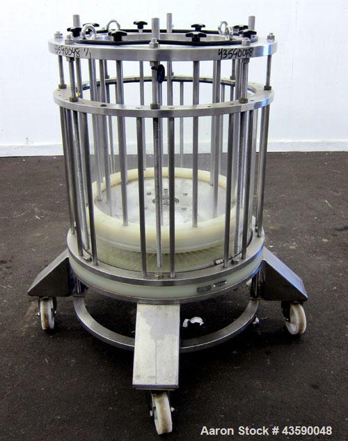 Used- Amicon Biochromatography Process Column, Model P-630X500. Approximate adjustable capacity 16-56 liters(4.2-14.7 gallon...