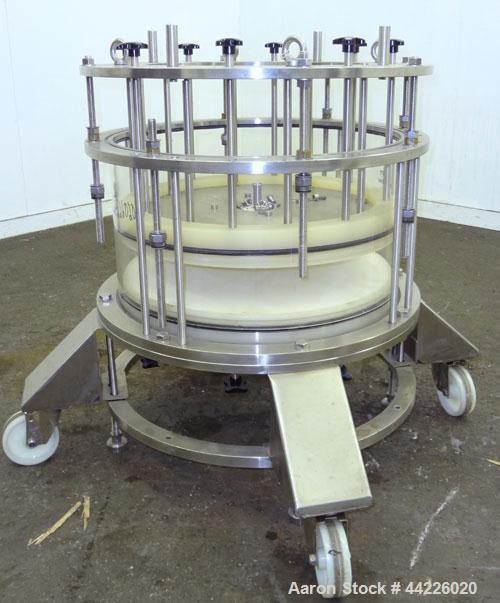 Used- Amicon Biochromatography Process Column, Model P630 X 250. Approximate adjustable capacity 8-28 liters (2.1-7.3 gallon...