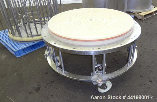 Used- Amicon Limited Chromatography Column, Model S1000 X 1000, 316 Stainless Steel. (2) Vertical column sections approximat...