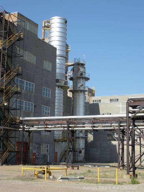 "Used-Column, 10'6"" Diameter x 71'9""  High. Edmonton Exchanger & Refinery Services, MAX ALL WP SS 138/FVAC kPa @148 deg C, 20..."