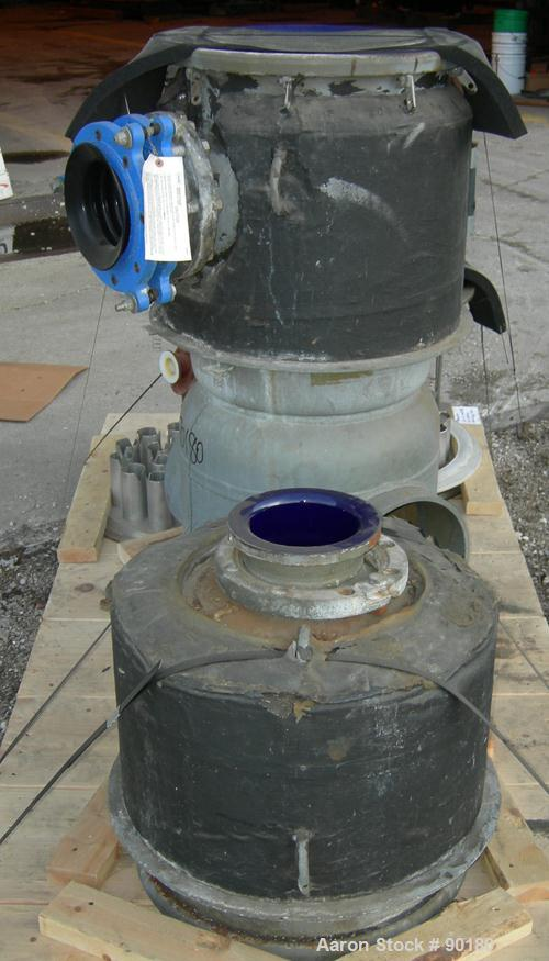 "USED- Dedietrich Vertical Glass Lined Column. 17-1/2"" diameter x approximately 42"" long. Consists of (2) sections: (1) botto..."