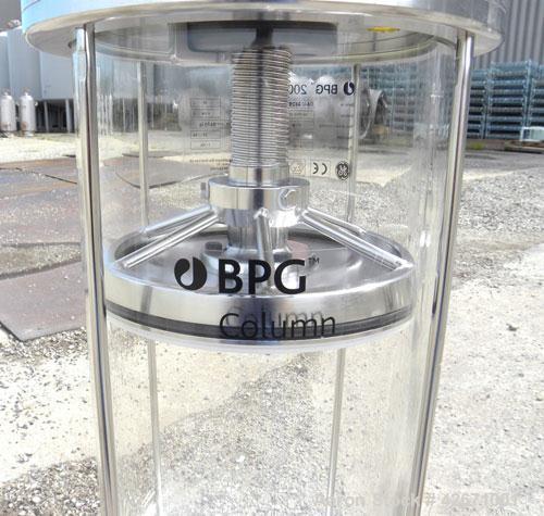Used- GE Healthcare Life Sciences Glass Chromatography Column, Model BPG 200/500, Code# 18-1103-11. (1) Vertical glass colum...