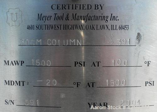 Used- Stainless Steel Technikrom High Pressure Liquid Chromatography Column, Mod