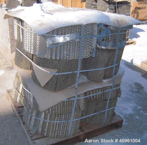 Used- Koch-Glitsch Flexipac HC Structured Column Packing, approximate 5100 pounds, 29-4 heat resistant stainless steel. Rest...