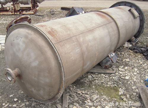 "Used- Mitternight Boiler Works Packed Tray Column, 828 Volume Capacity, 304 Stainless Steel, Vertical. 36"" diameter x 145-1/..."