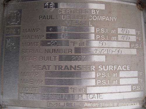 """Unused- Mueller Distillation Column, 14"""" Primary  Glycerin Distallation Column C-601.  304L Stainless Steel, Vertical. 14"""" d..."""