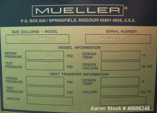 Unused- Mueller Distillation, B100 - Bio Diesel 100Column, 304L Stainless Steel, Vertical. 54'' diameter x 777 7/8'' overall...