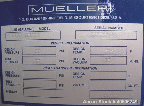 "Unused- Mueller Distillation Column, 304L Stainless Steel, Vertical. 54"" diameter x 777 7/8"" overall height, (3) bolt togeth..."