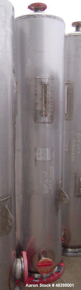 """Used- Mueller Distillation Column, 14"""" PrimaryGlycerin Distallation Column C-601. 304L Stainless Steel, Vertical. 14'' diame..."""